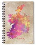 Ireland Map  Spiral Notebook