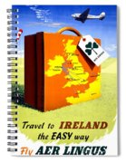 Ireland Vintage Travel Poster Restored Spiral Notebook