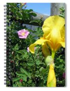 Iris And Wild Roses Spiral Notebook