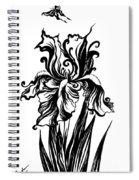Iris Flower And Butterfly Spiral Notebook