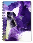 Iris Flower Art Print Purple Irises Botanical Floral Artwork Spiral Notebook
