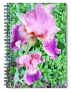 Iris Flower Photograph I Spiral Notebook