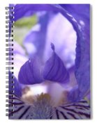 Iris Flower Purple Irises Floral Botanical Art Prints Macro Close Up Spiral Notebook