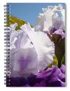 Iris Flowers Purple White Irises Poppy Hillside Landscape Art Prints Baslee Troutman Spiral Notebook