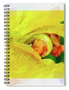 Iris In Abstract Spiral Notebook