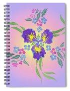 Iris Pinwheel Spiral Notebook