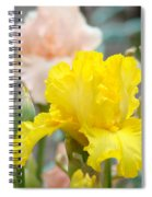 Irises Botanical Garden Yellow Iris Flowers Giclee Art Prints Baslee Troutman Spiral Notebook