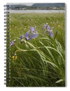 Irises By The Sea Spiral Notebook
