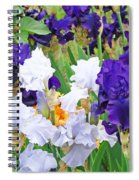 Irises Flowers Garden Botanical Art Prints Baslee Troutman Spiral Notebook