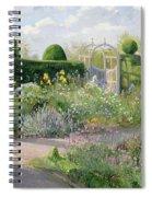 Irises In The Herb Garden Spiral Notebook