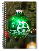 Irish Christmas Spiral Notebook