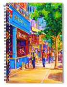Irish Pub On Crescent Street Spiral Notebook