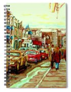 Irish Pubs And Bistros Downtown Montreal Spiral Notebook
