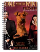 Irish Terrier Art Canvas Print - Gone To The Wind Movie Poster Spiral Notebook