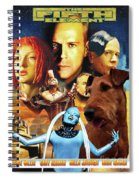 Irish Terrier Art Canvas Print - The Fifth Element Movie Poster Spiral Notebook