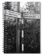 Irish Village Sign County Limerick. Spiral Notebook
