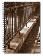 Iron Fence With Shadows Spiral Notebook