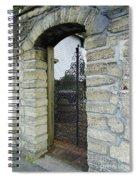 Iron Gate To The Garden Spiral Notebook