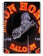 Iron Horse Saloon In Neon Spiral Notebook