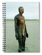 Iron Man Front, Crosby Beach Liverpool Spiral Notebook
