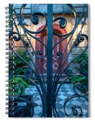 Iron Scroll Entrance Spiral Notebook