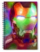 Ironman Abstract Digital Paint 1 Spiral Notebook