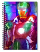 Ironman Abstract Digital Paint 2 Spiral Notebook