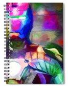 Ironman Abstract Digital Paint 3 Spiral Notebook