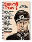 Is Paris Burning Gert Frobe As General Dietrich Von Chlitz German Theatrical Poster 1966 Spiral Notebook