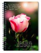 Isaiah 35 V 4 Spiral Notebook