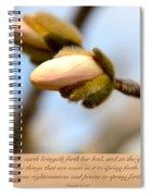 Isaiah 61  V 11 Spiral Notebook