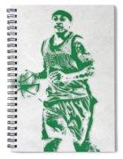 Isaiah Thomas Boston Celtics Pixel Art Spiral Notebook