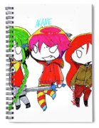 Isamu, Akane, And Amanda Spiral Notebook