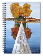 Island Cabin 2 Spiral Notebook