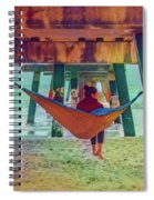 Island Dreams Under The Pier Watercolors Painting Spiral Notebook
