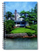 Island Home With Bridge - My Happy Place Spiral Notebook