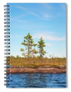 Island In The Form Of A Smooth Rock With Several Pines Spiral Notebook