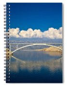 Island Of Pag Bridge And Velebit Mountain Spiral Notebook