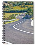 Island Of Pag Curvy Road Spiral Notebook