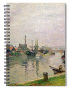 Island Of The Cross At Rouen Spiral Notebook