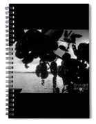 Island - View -  Black And White Spiral Notebook