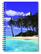 Island With Palm Trees Spiral Notebook