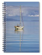 Isle Of Colonsay, Scotland Sailboat On Spiral Notebook