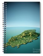 Isle Of Man 3d View South-north Natural Color Spiral Notebook