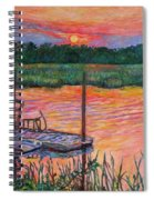 Isle Of Palms Sunset Spiral Notebook