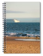 Isle Of Wight As Seen From Bournemouth Beach Spiral Notebook