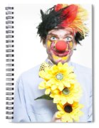 Isolated Clown In A Funny Summer Romance Spiral Notebook