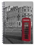 Isolated Phone Box Spiral Notebook