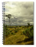 Isolated Windmill Spiral Notebook