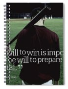 Ispirational Sports Quotes  Joe Paterno Spiral Notebook